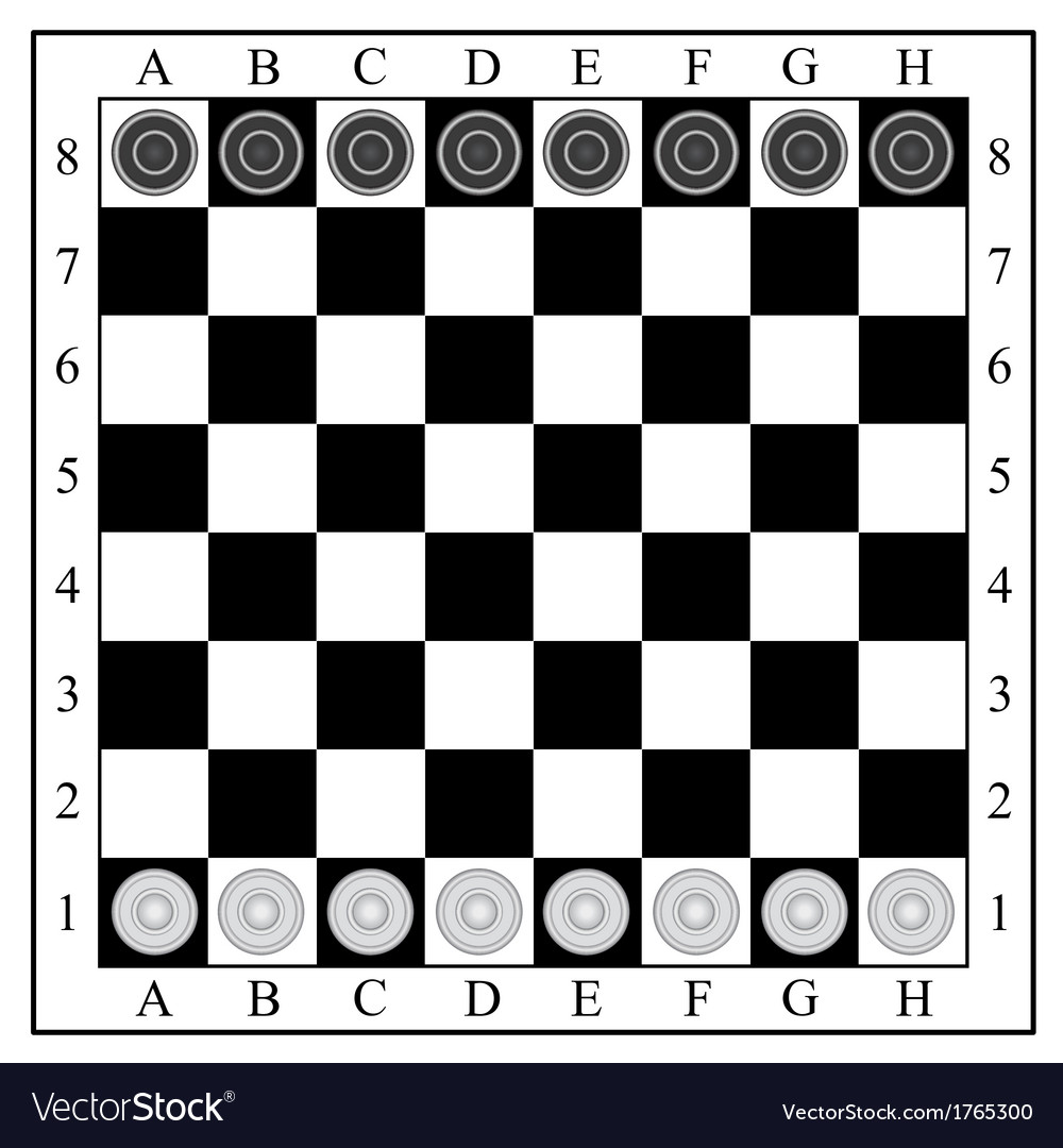 Classic checkers board and checkers vector | Price: 1 Credit (USD $1)