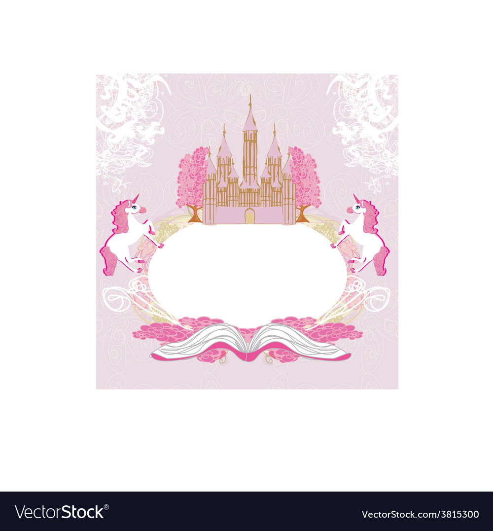 Fairy castle appearing from the book - abstract vector | Price: 1 Credit (USD $1)
