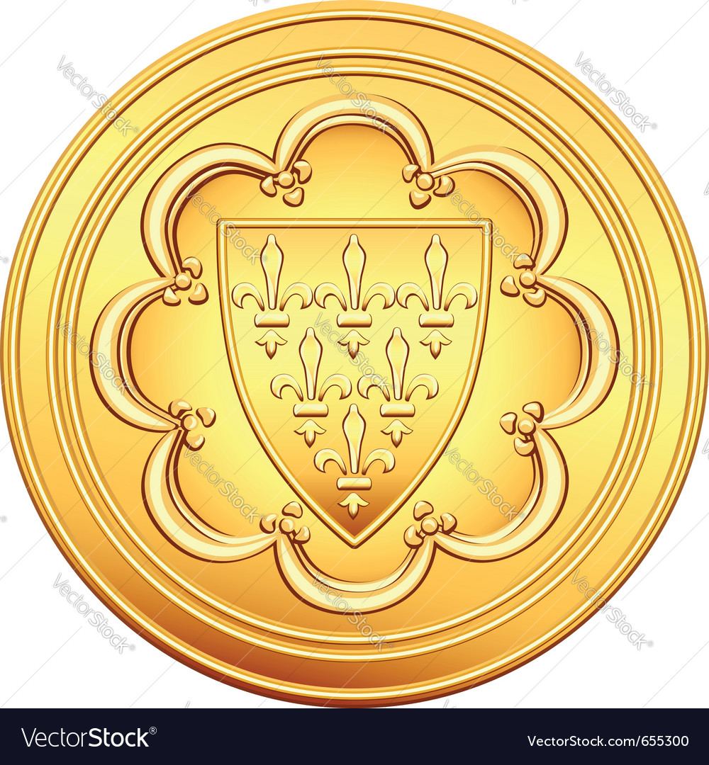 Gold french coin vector | Price: 1 Credit (USD $1)