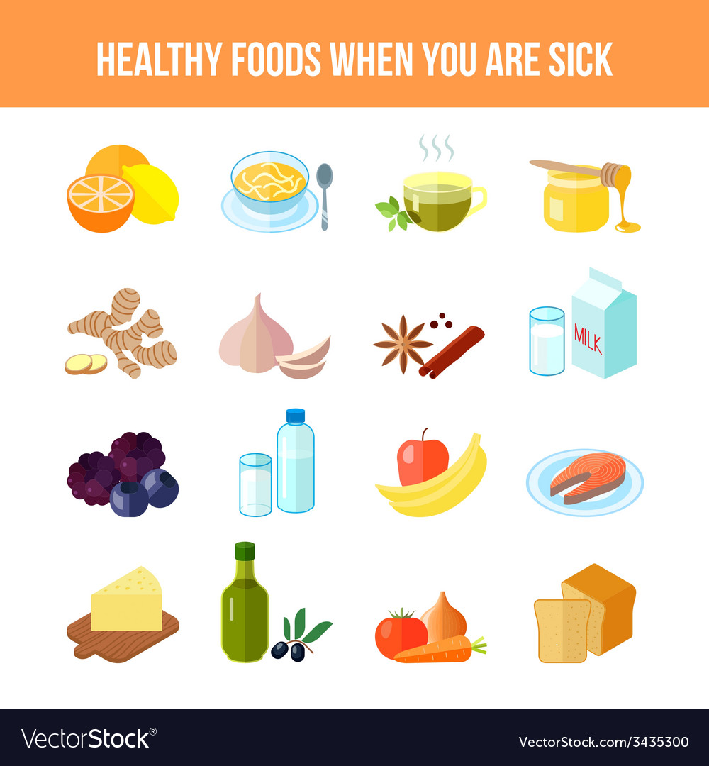 Healthy food icon flat vector | Price: 1 Credit (USD $1)