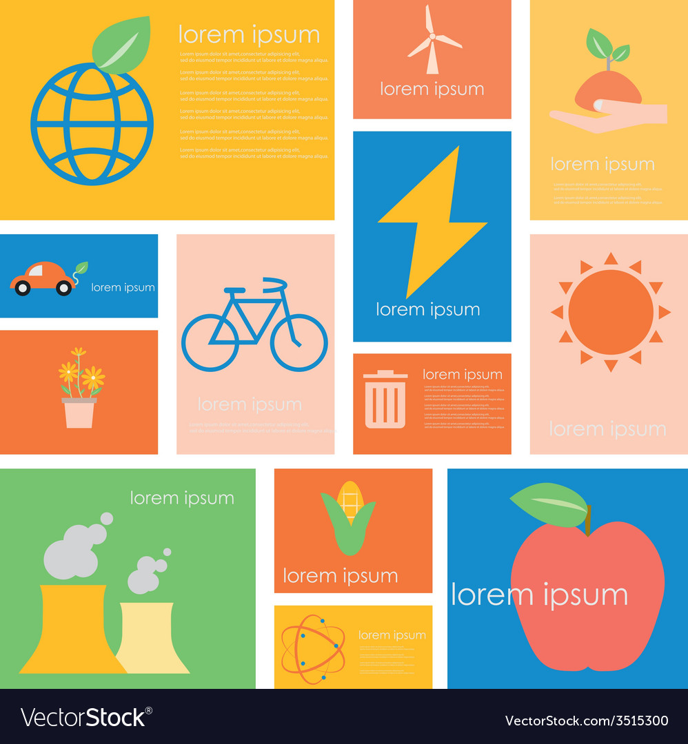 Icon ecology nature conservation vector | Price: 1 Credit (USD $1)