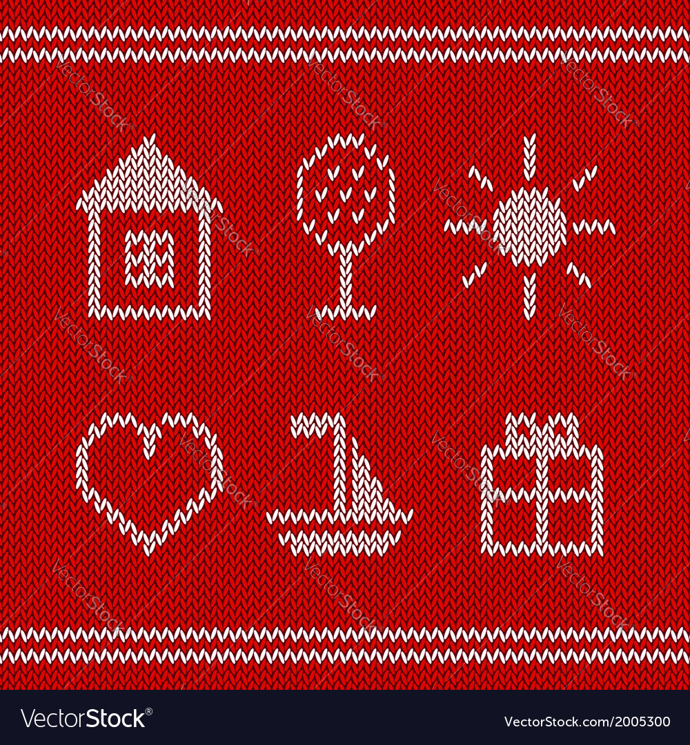 Knitted icons vector | Price: 1 Credit (USD $1)