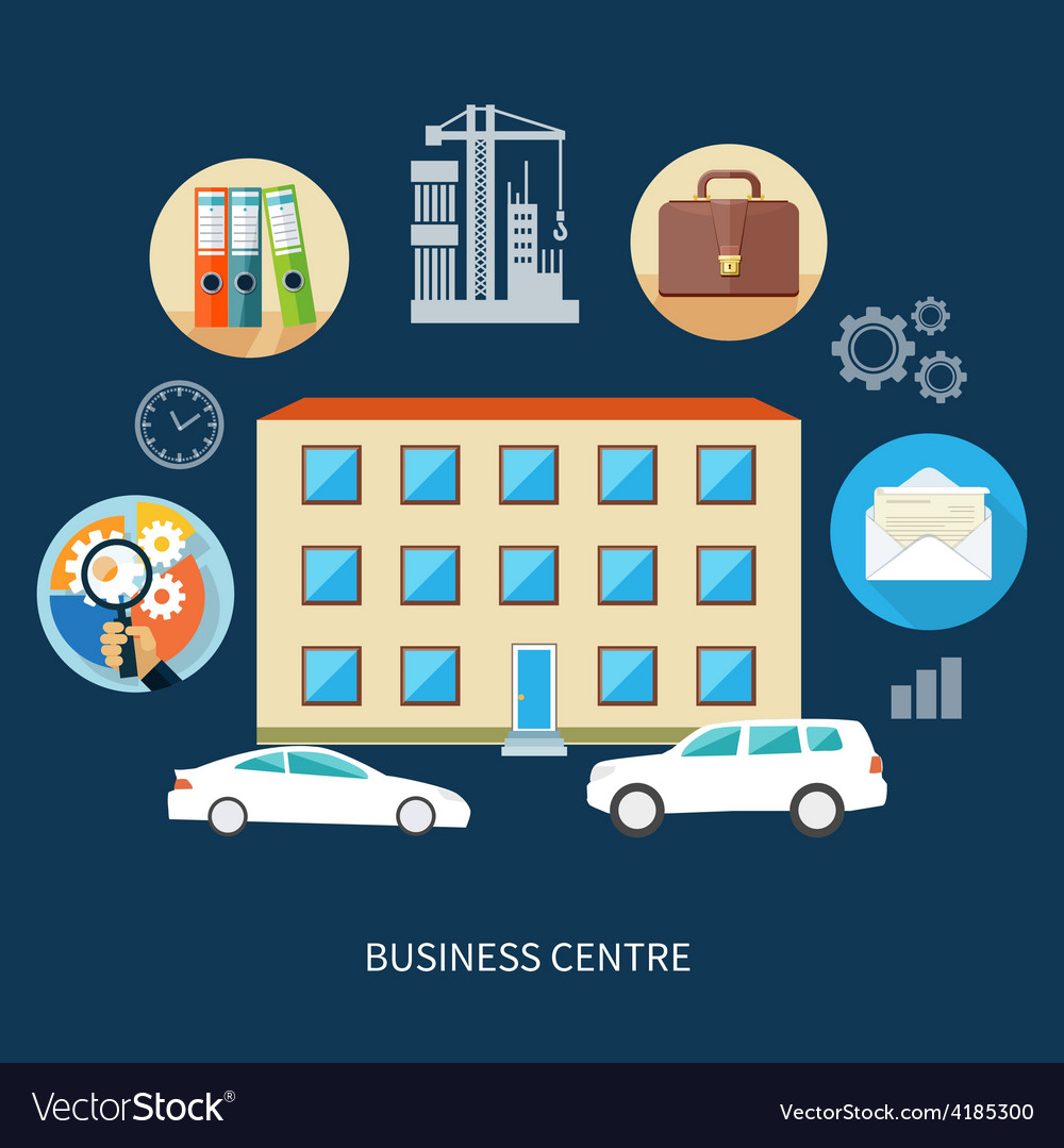 Modern business center vector | Price: 1 Credit (USD $1)