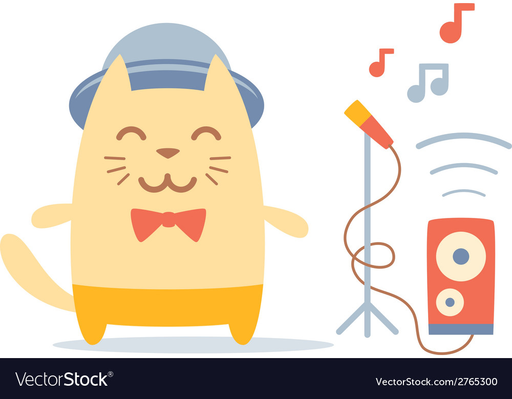 Musician character in costume hat and bow tie vector | Price: 1 Credit (USD $1)