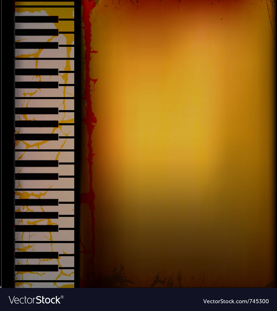 Piano music retro background vector | Price: 1 Credit (USD $1)