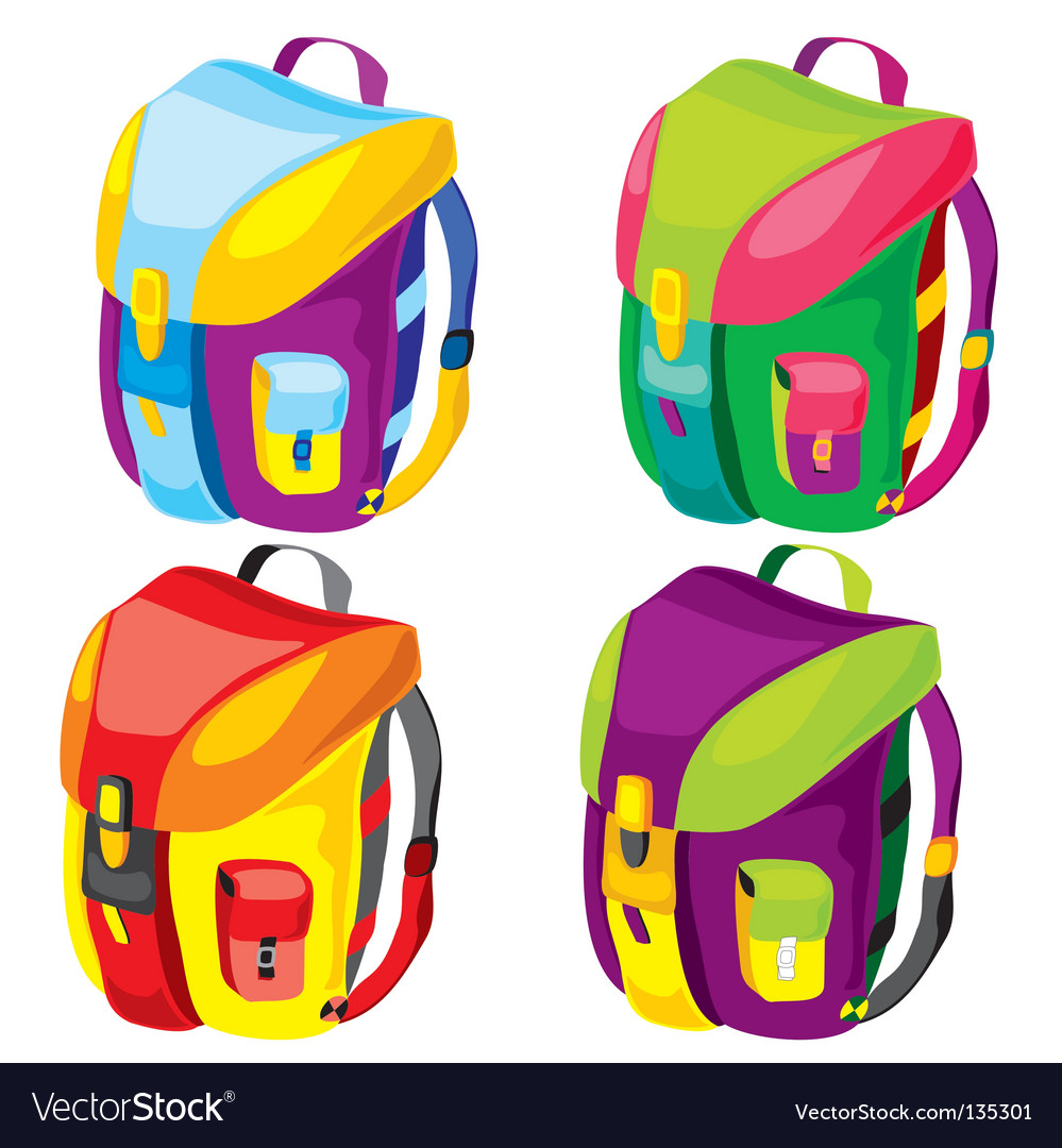 Backpacks vector | Price: 1 Credit (USD $1)