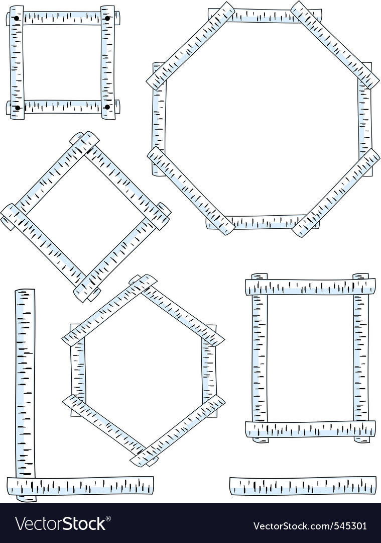 Birch frames vector | Price: 1 Credit (USD $1)