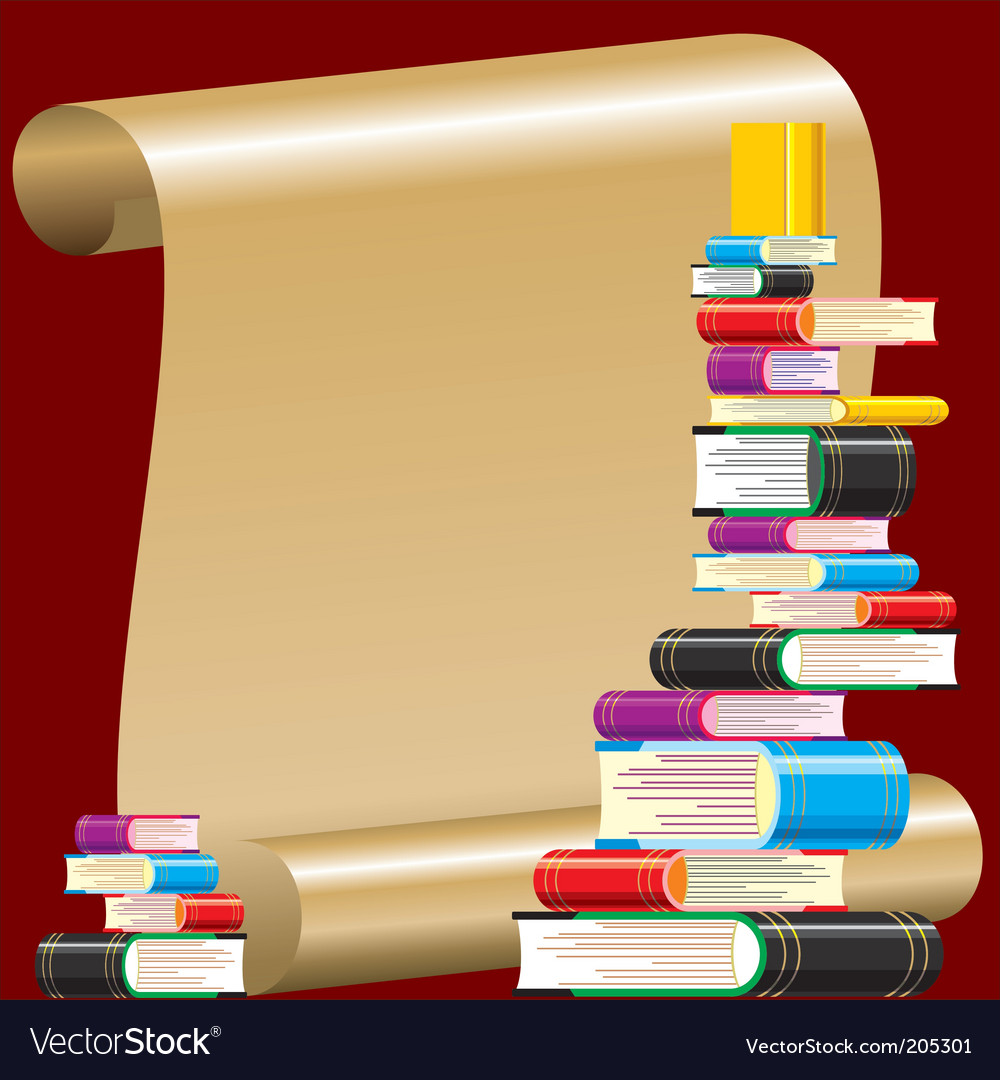 Book collection vector | Price: 1 Credit (USD $1)