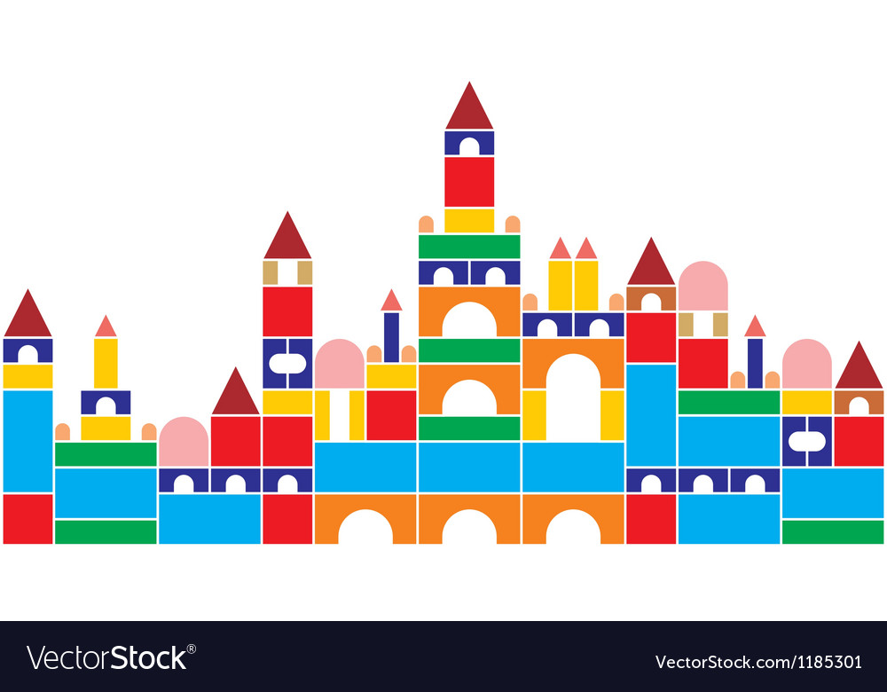 Castle of baby cubes vector | Price: 1 Credit (USD $1)