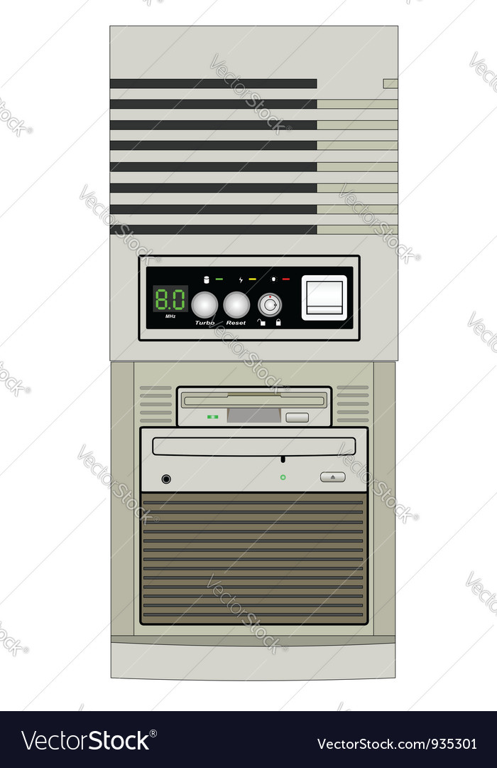 Computer 2 vector | Price: 1 Credit (USD $1)