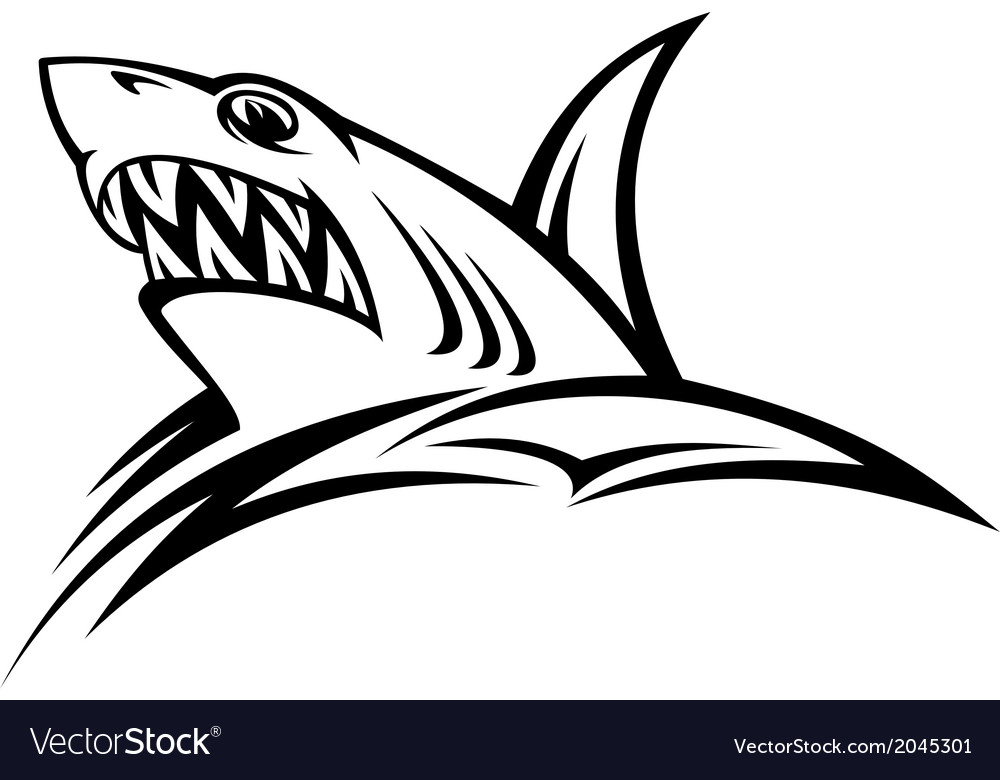 Danger shark tattoo vector | Price: 1 Credit (USD $1)