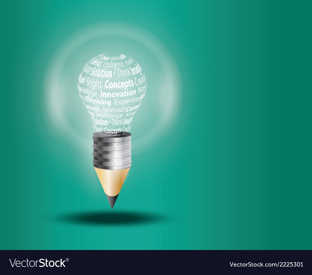 Lamp and pencil vector | Price: 1 Credit (USD $1)