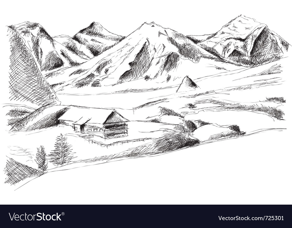 Mountain isolated on the white vector | Price: 1 Credit (USD $1)