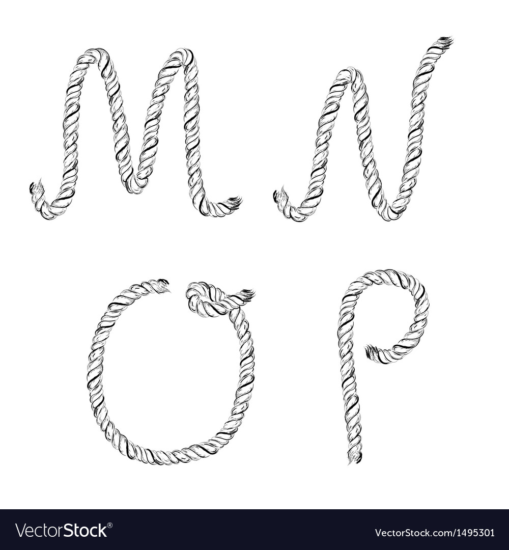 Ropes lettering vector | Price: 1 Credit (USD $1)