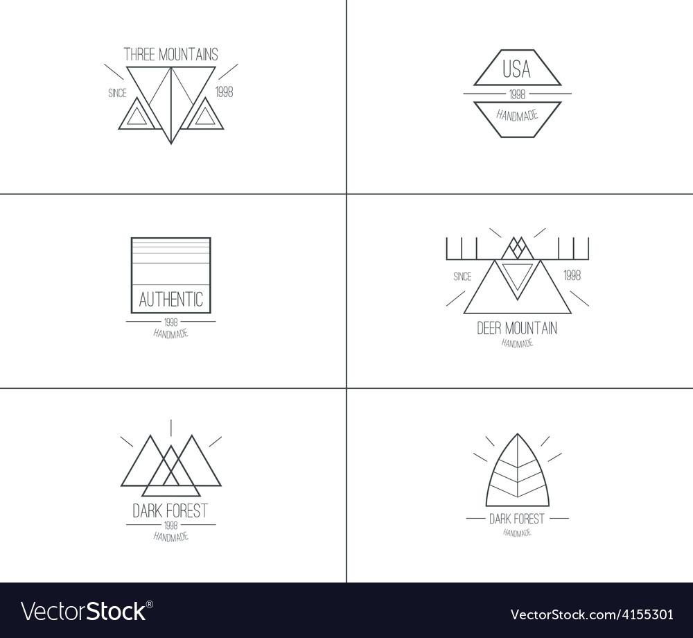 Set of retro vintage badges vector   Price: 1 Credit (USD $1)