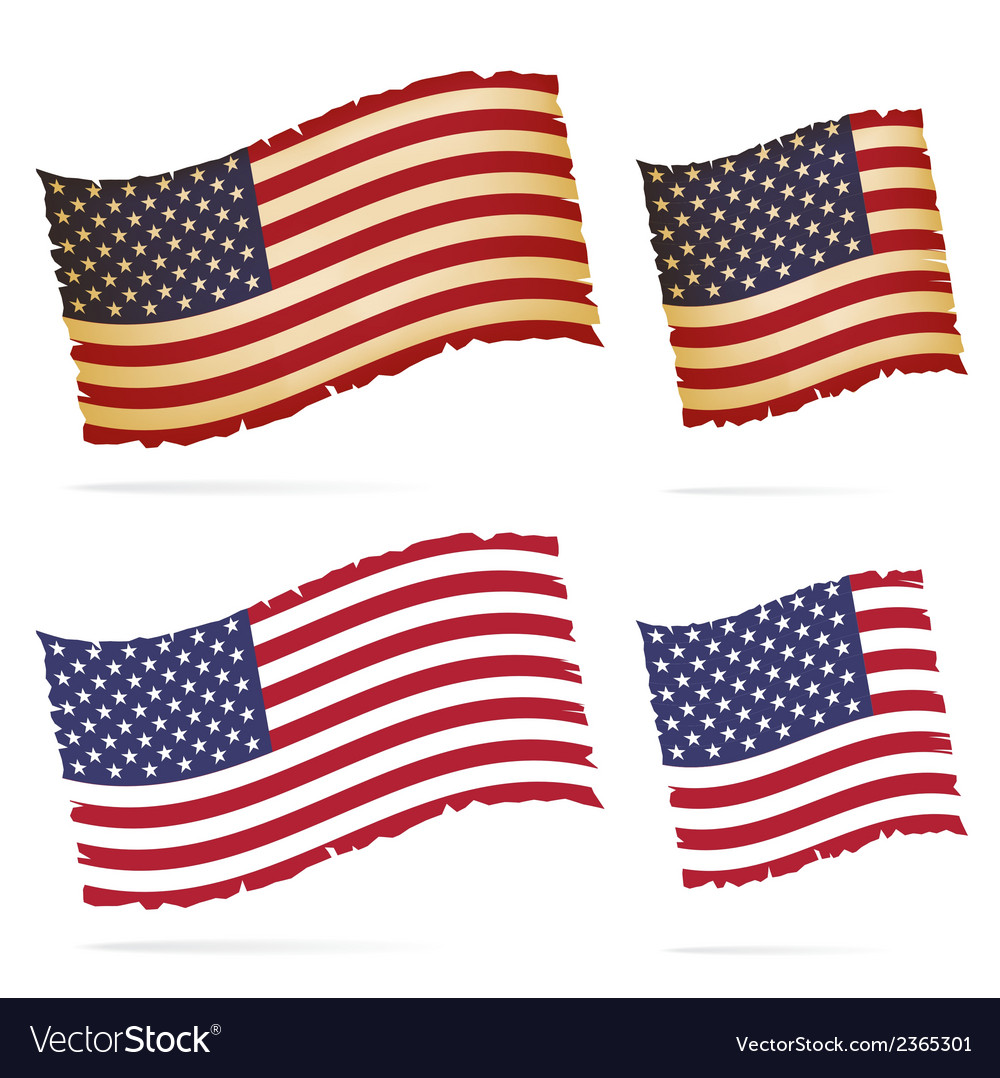 United stated flag vector | Price: 1 Credit (USD $1)