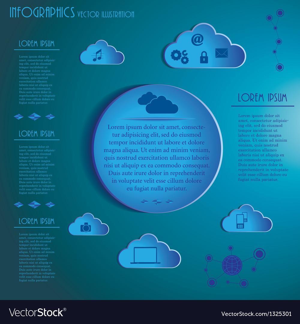 Weather clouds infographics vector | Price: 1 Credit (USD $1)