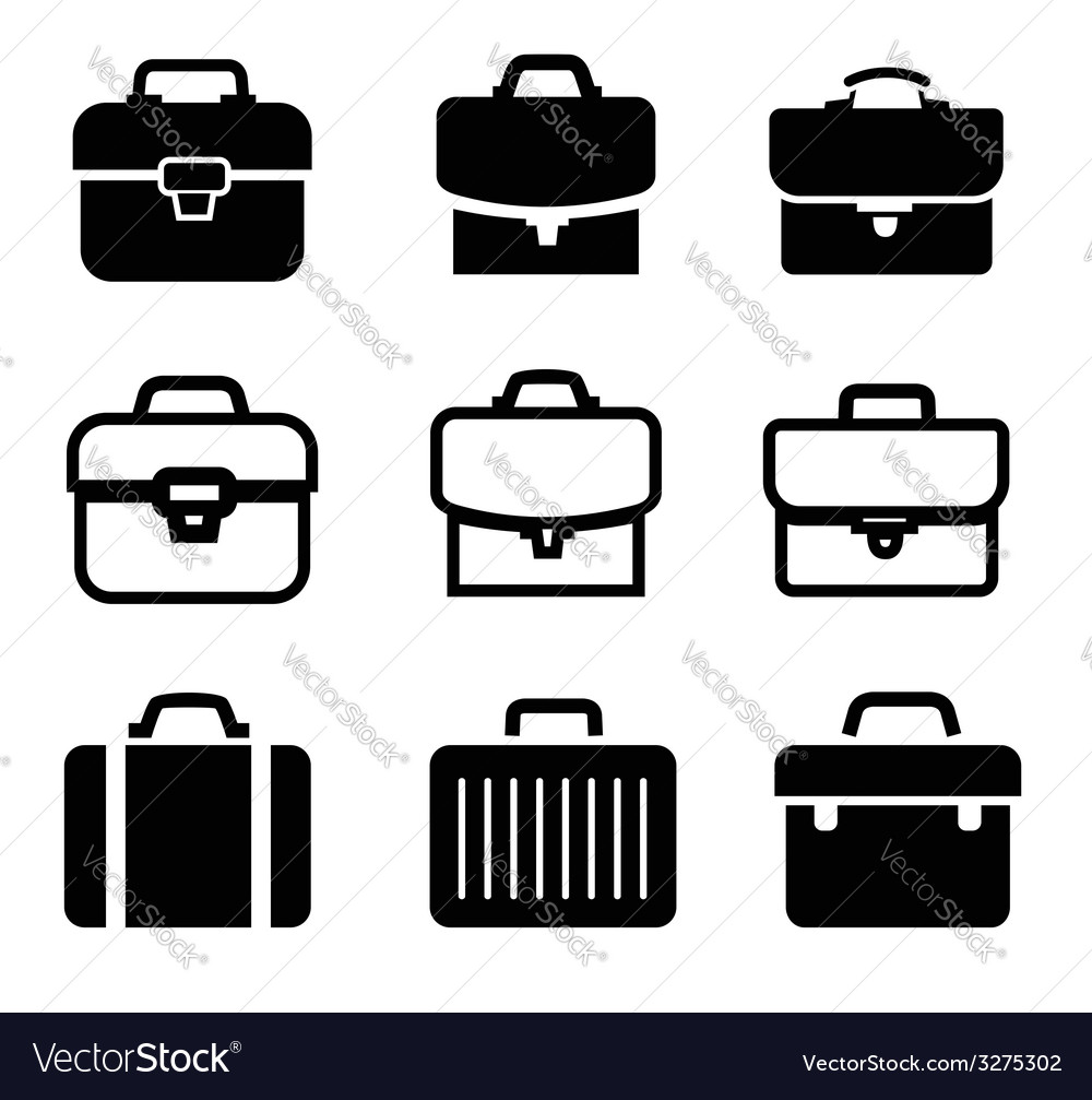 Briefcase icons vector | Price: 1 Credit (USD $1)