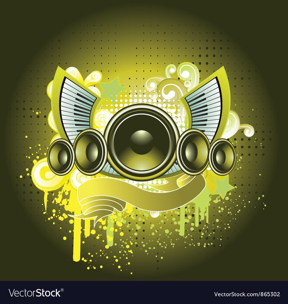 Concert poster with speaker vector | Price: 1 Credit (USD $1)