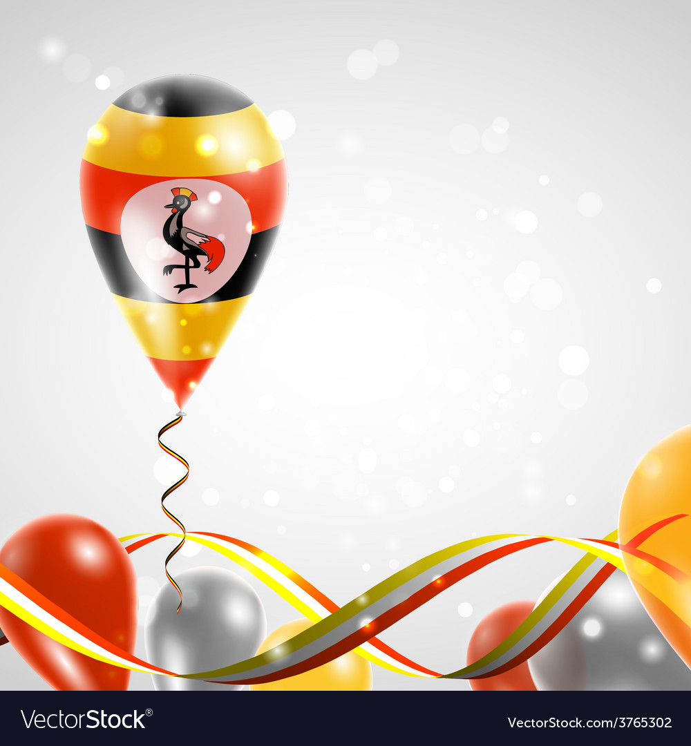 Flag of uganda on balloon vector | Price: 3 Credit (USD $3)