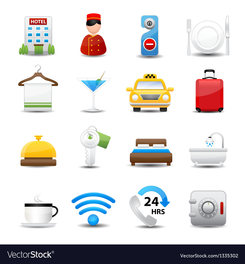 Hotel icons set vector | Price: 3 Credit (USD $3)