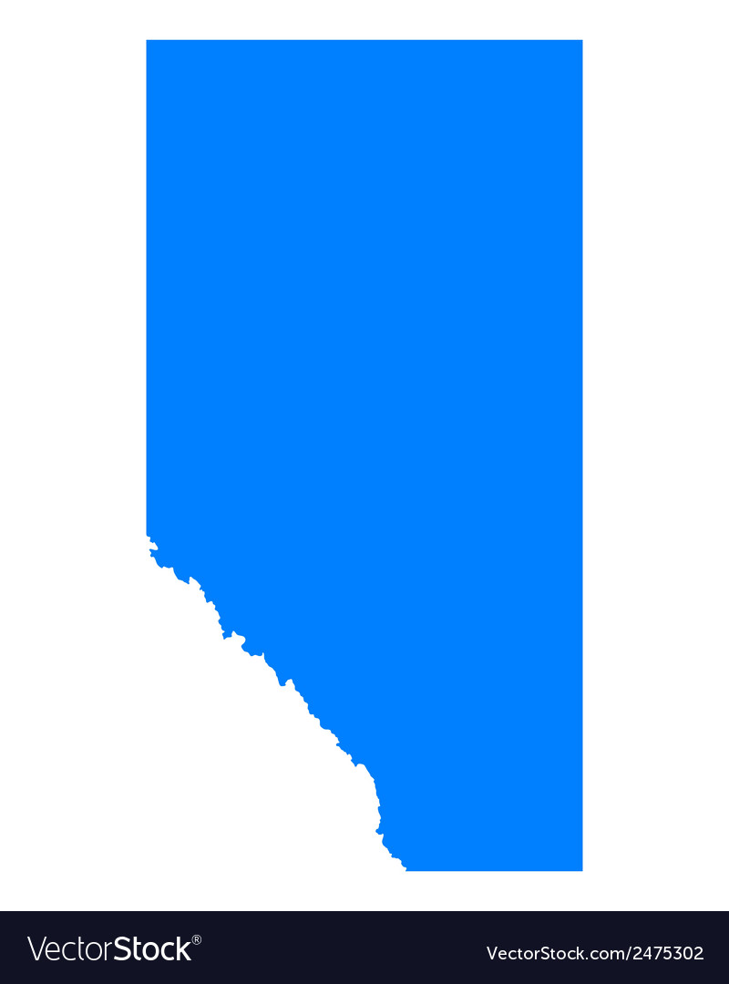 Map of alberta vector | Price: 1 Credit (USD $1)
