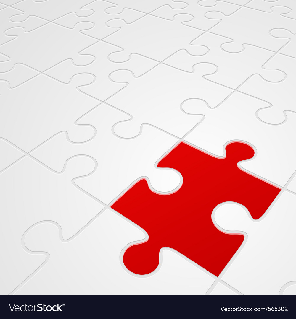Puzzle in perspective vector | Price: 1 Credit (USD $1)