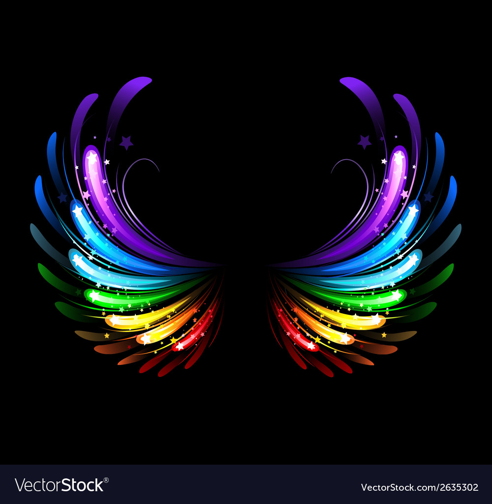 Rainbow wings vector | Price: 1 Credit (USD $1)