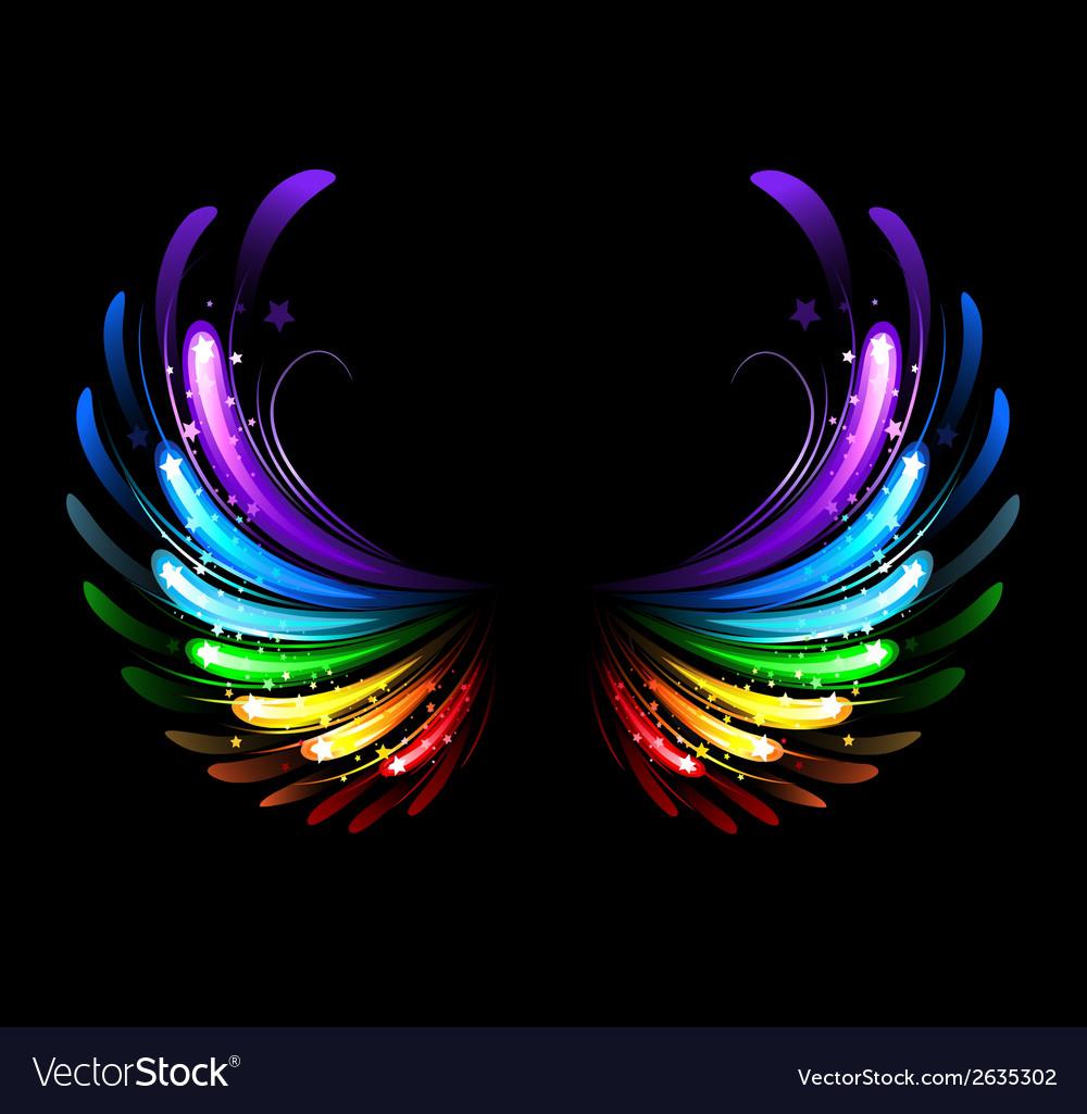 Rainbow wings vector | Price: 1 Credit (USD $1)
