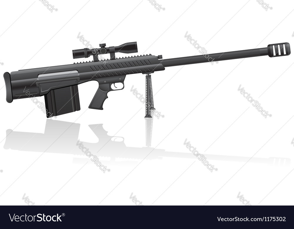 Sniper rifle 01 vector | Price: 1 Credit (USD $1)