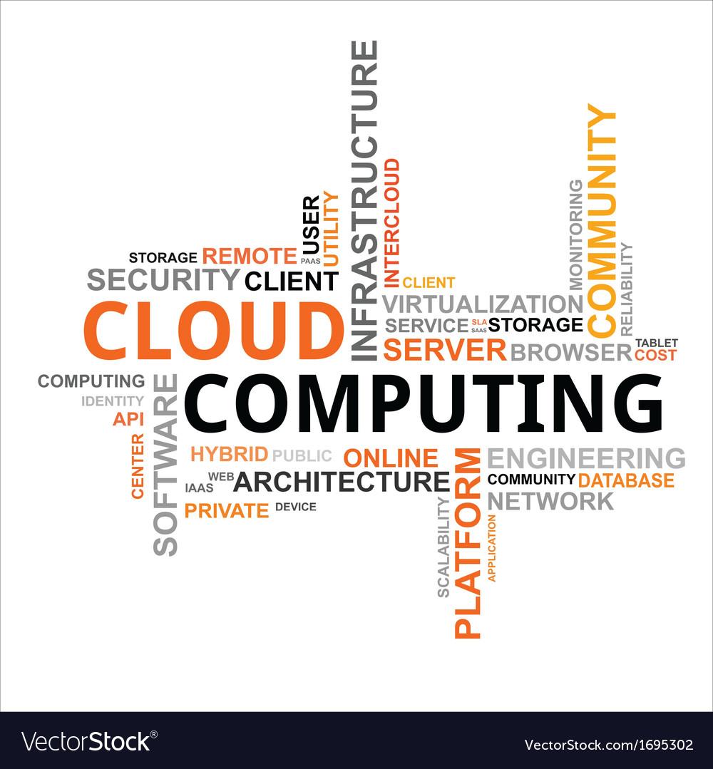 Word cloud cloud computing vector | Price: 1 Credit (USD $1)