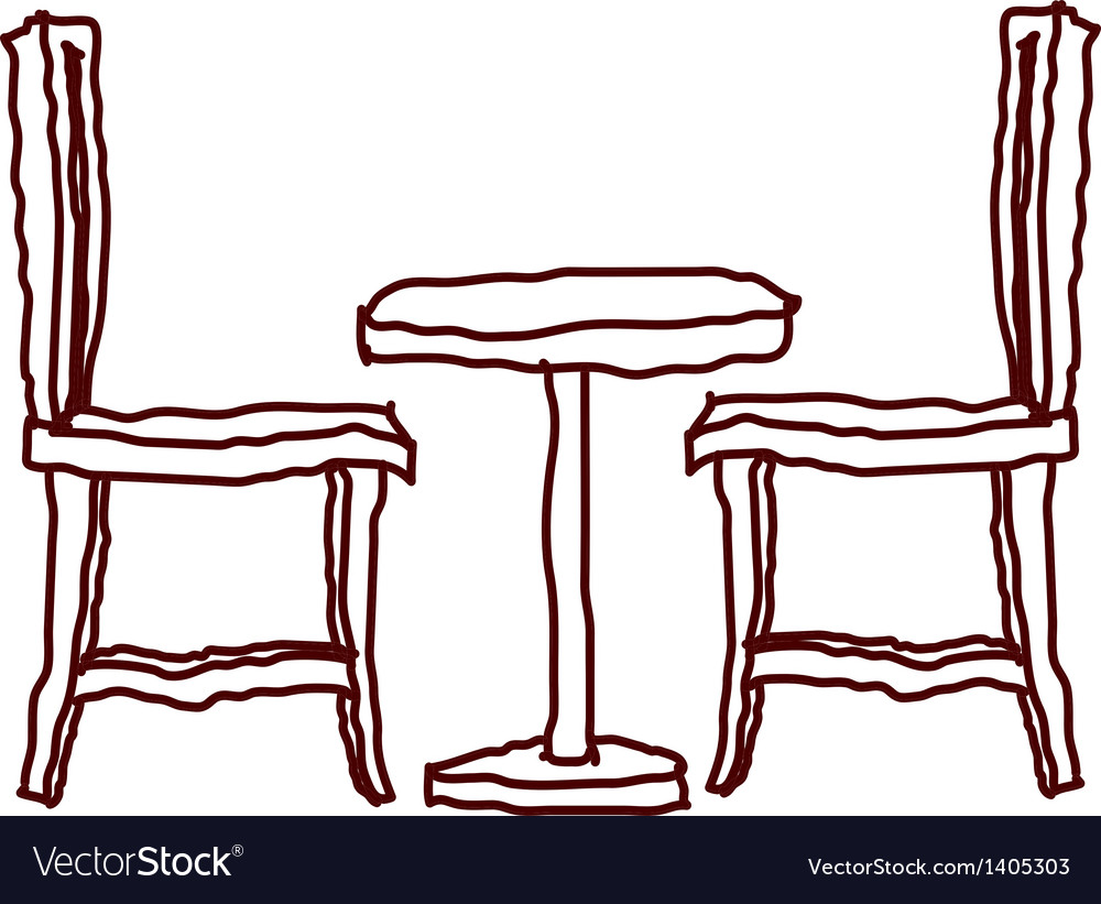A table with chair vector | Price: 1 Credit (USD $1)