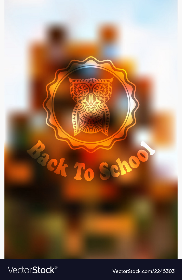 Autumn back to school background vector | Price: 1 Credit (USD $1)