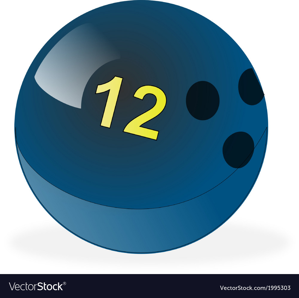 Blue bowling ball number 12 vector | Price: 1 Credit (USD $1)