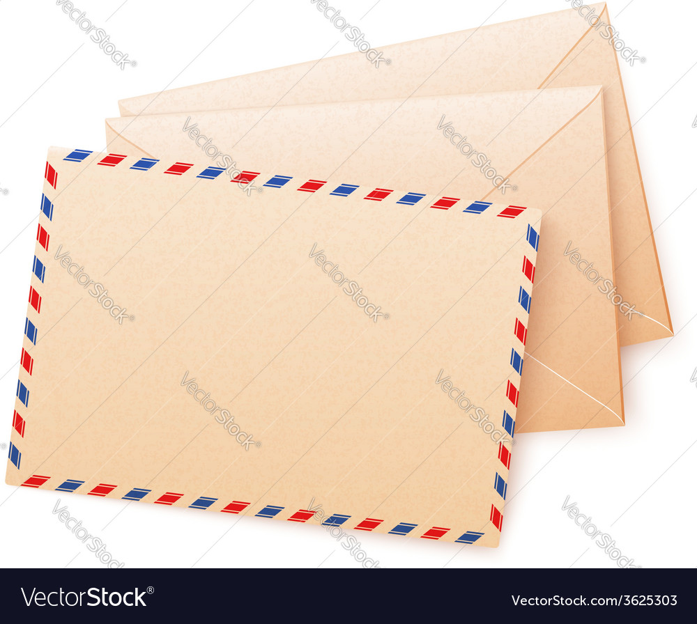 Craft paper envelops vector | Price: 1 Credit (USD $1)