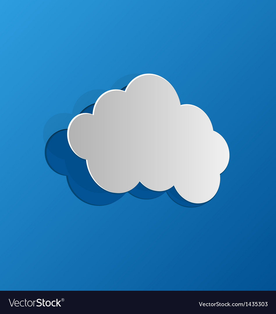 Cut out cloud blue paper vector | Price: 1 Credit (USD $1)