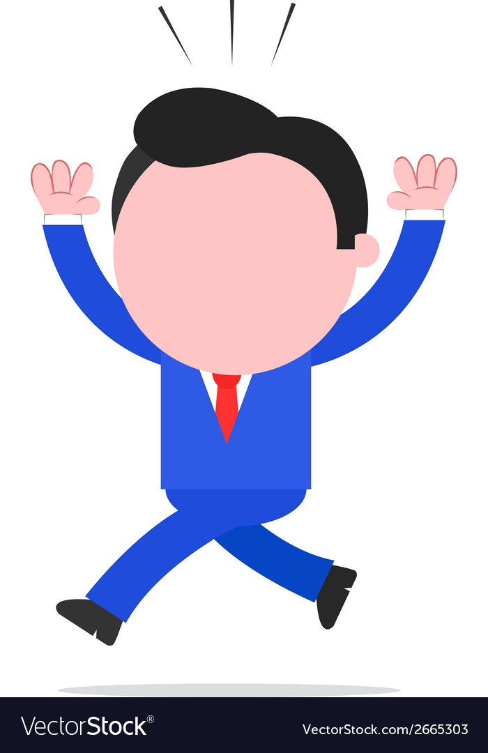 Scared businessman running vector | Price: 1 Credit (USD $1)