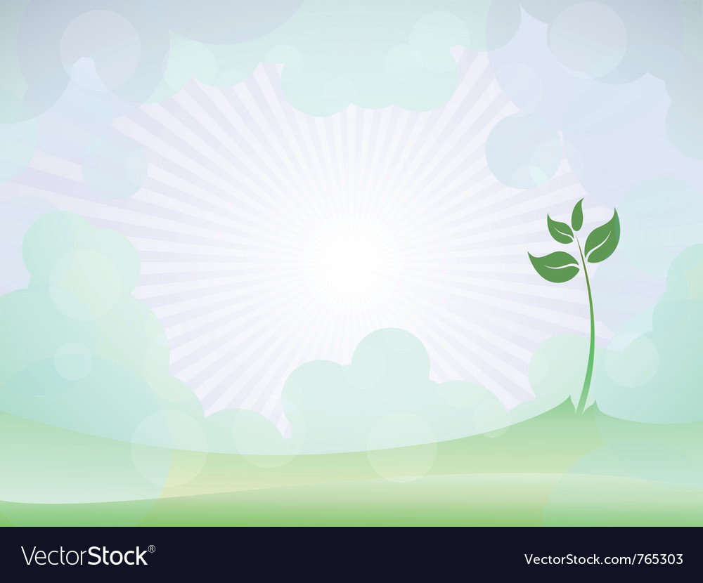 Spring sprout shoot vector | Price: 1 Credit (USD $1)