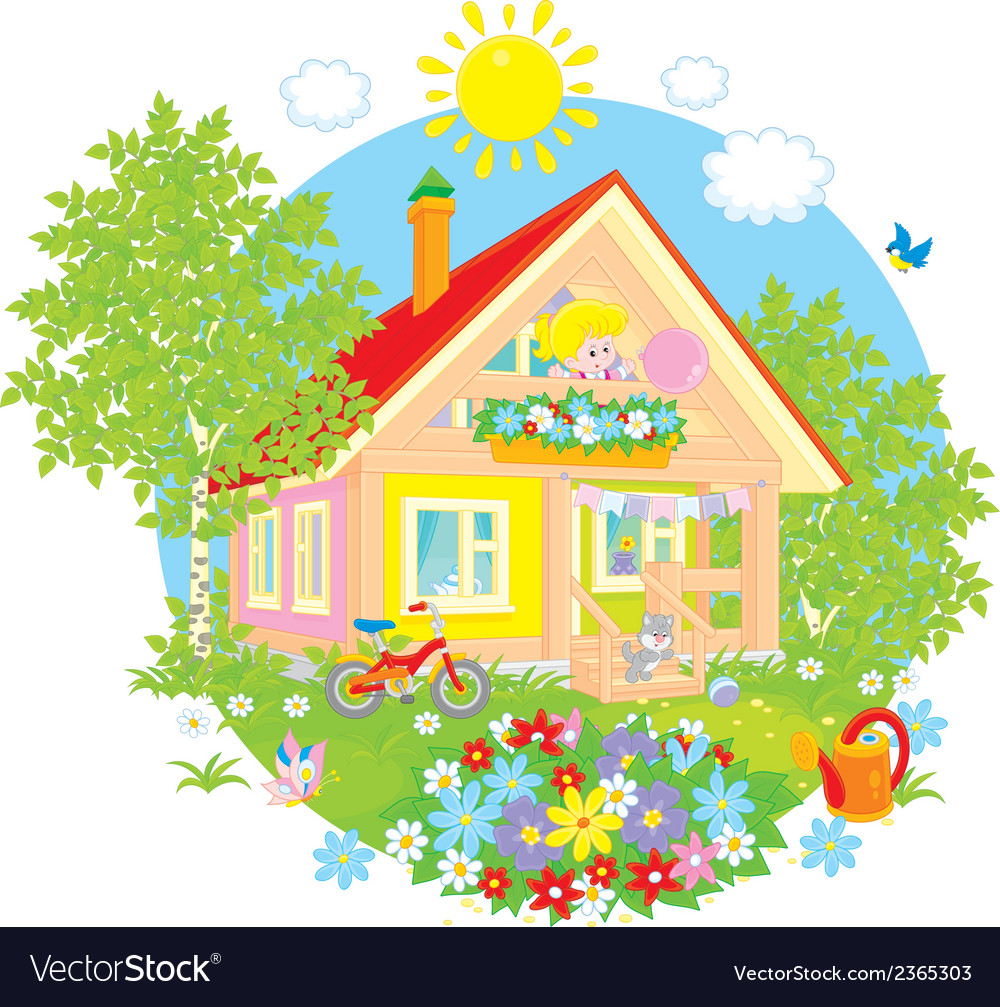 Summer cottage vector | Price: 1 Credit (USD $1)