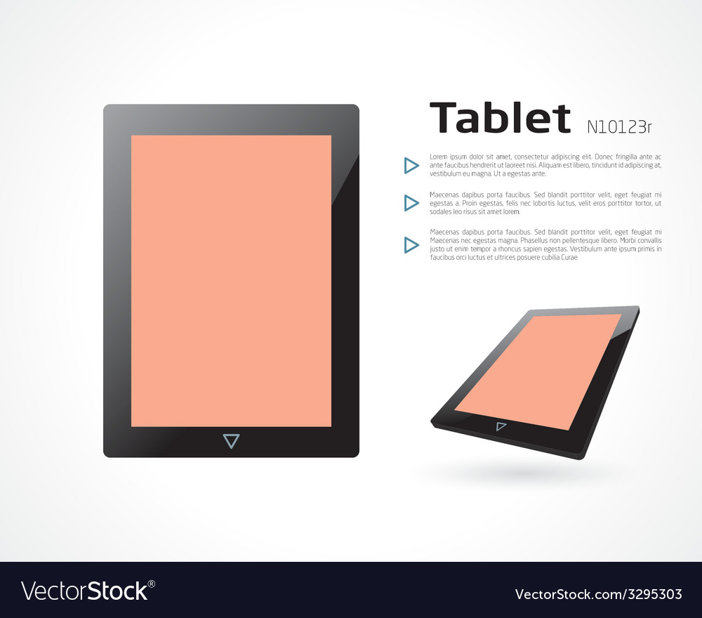 Tablet vector | Price: 1 Credit (USD $1)