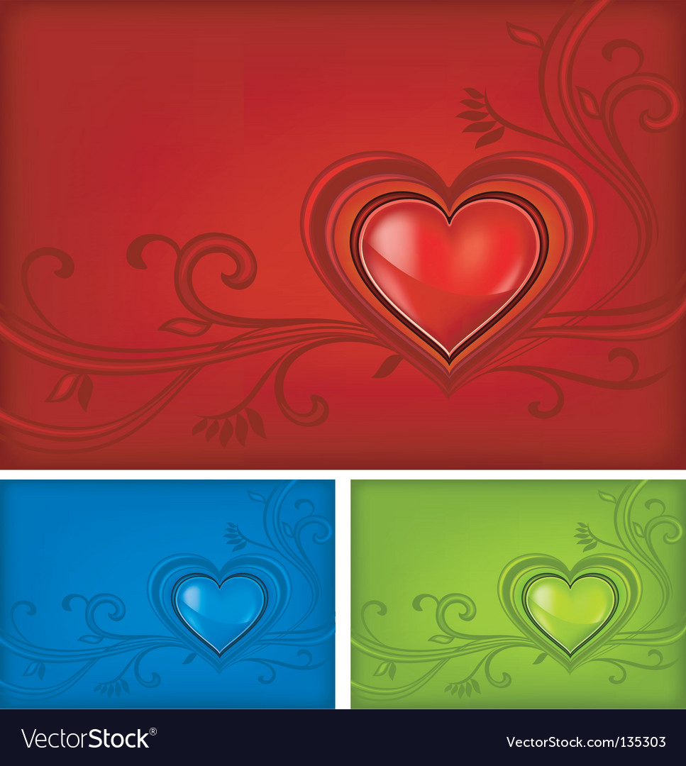 Tricolored valentine background vector | Price: 1 Credit (USD $1)