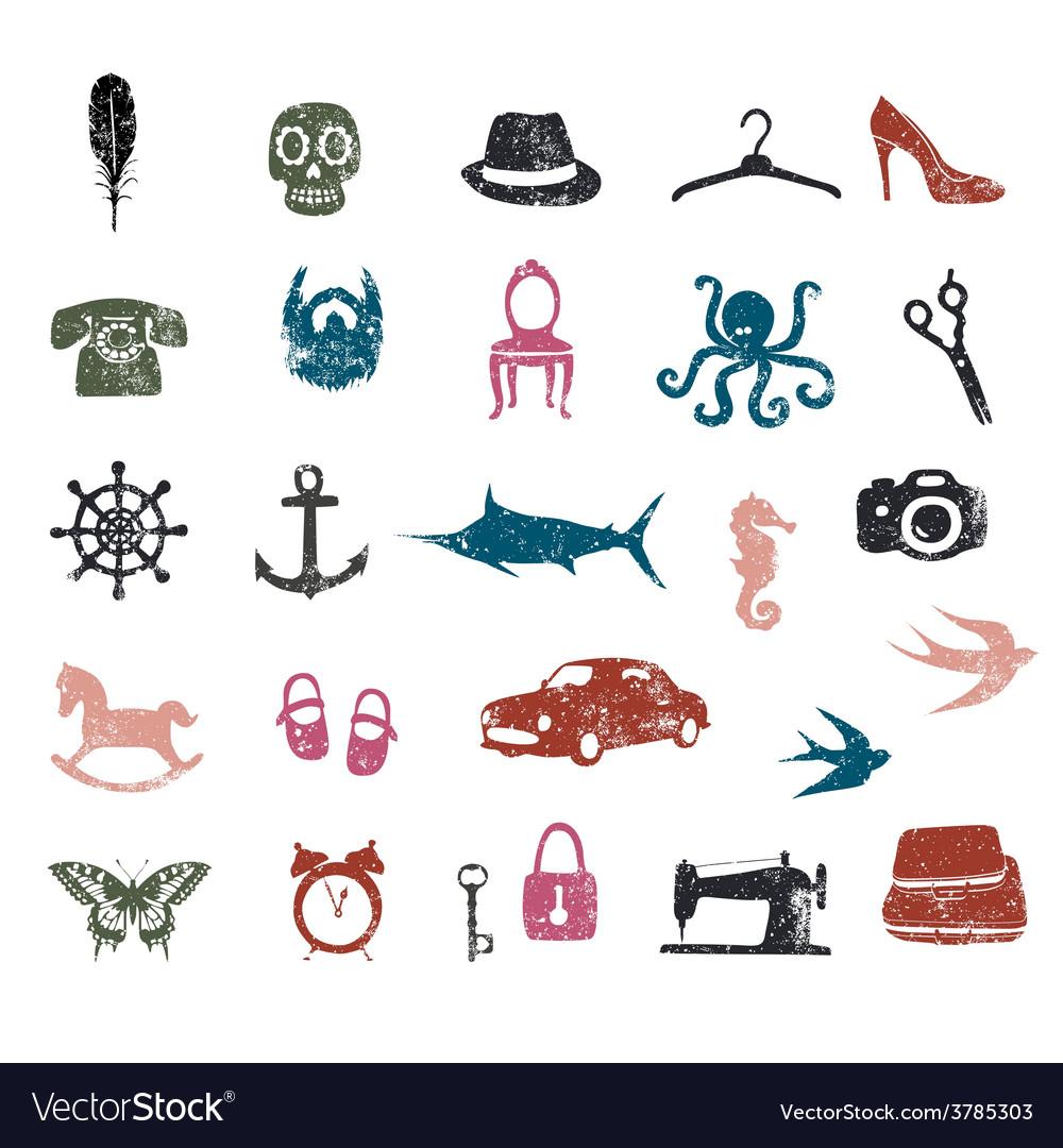 Unique pictograms vector | Price: 1 Credit (USD $1)
