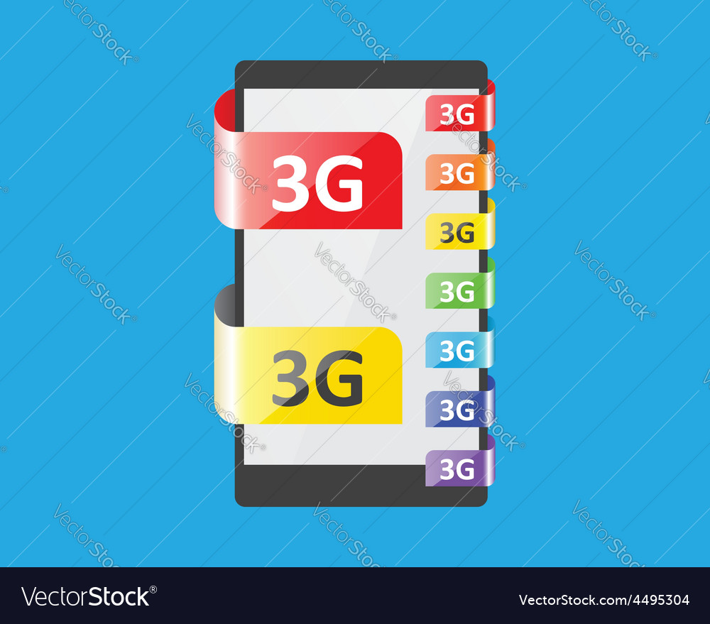 3g connection colors feature vector | Price: 1 Credit (USD $1)