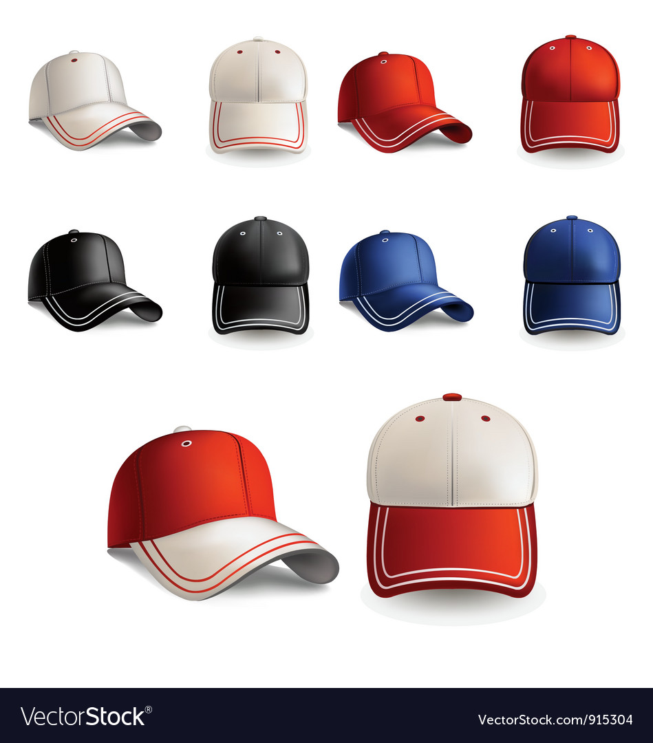 Baseball caps vector | Price: 3 Credit (USD $3)