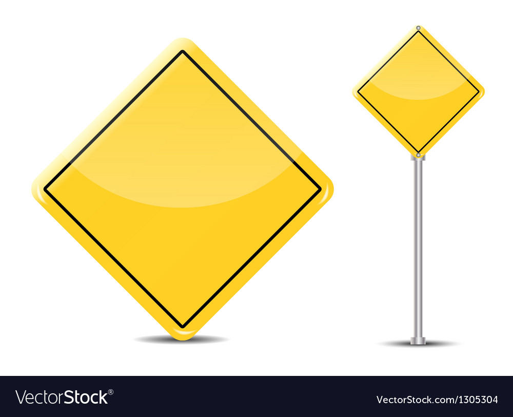 Blank traffic sign isolated on white background vector | Price: 1 Credit (USD $1)