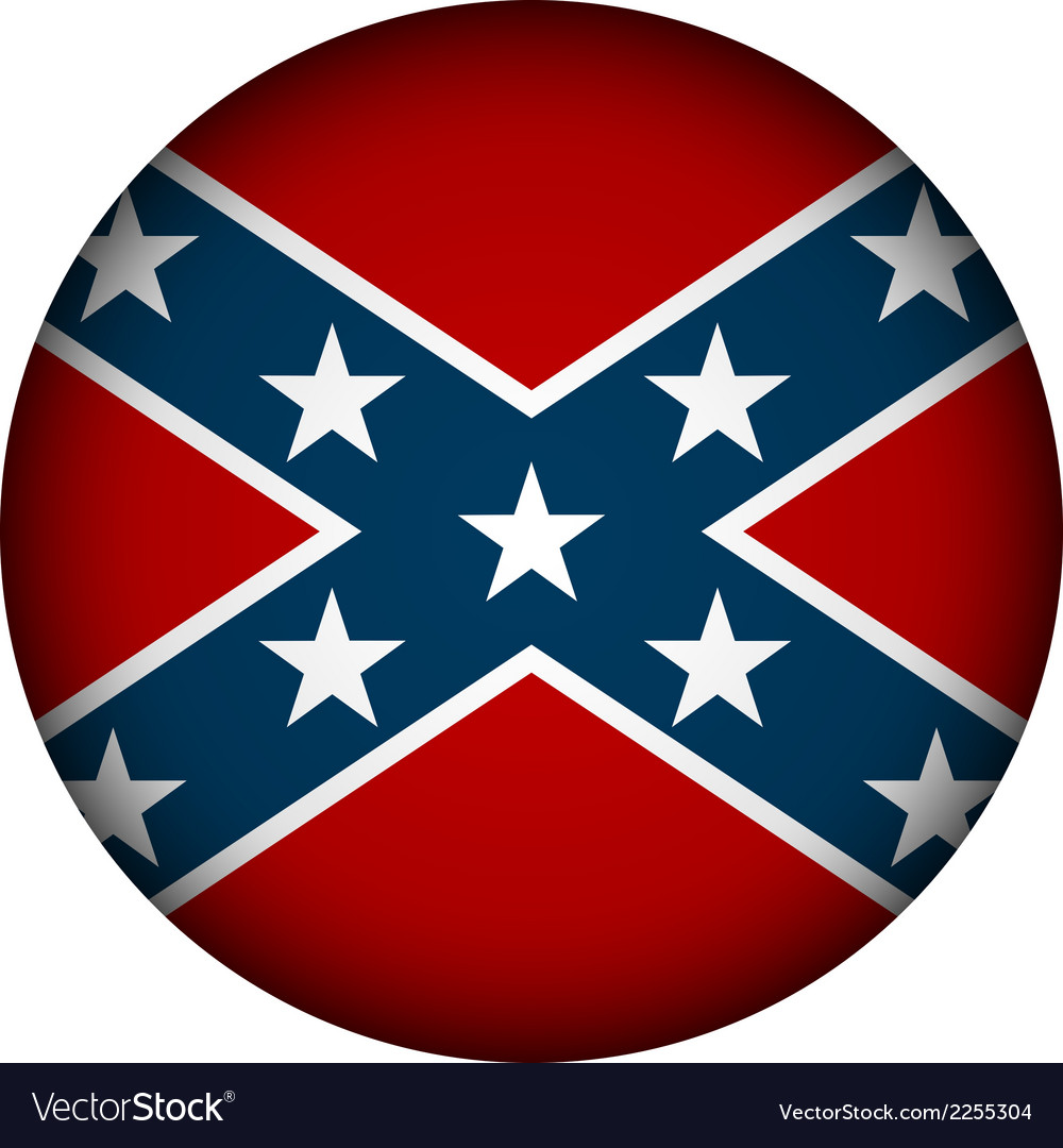 Confederate flag button vector | Price: 1 Credit (USD $1)