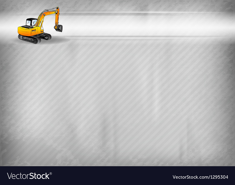 Construction background bagr vector | Price: 1 Credit (USD $1)