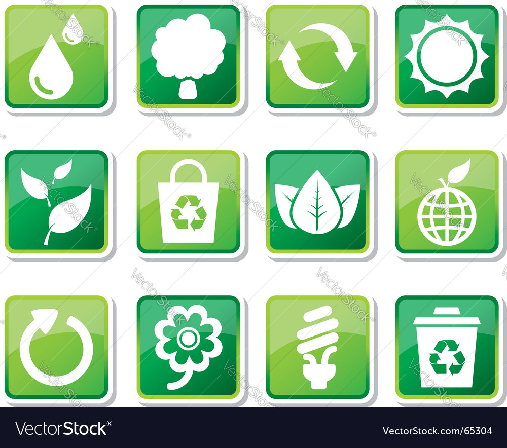 Environmental friendly icons vector | Price: 1 Credit (USD $1)