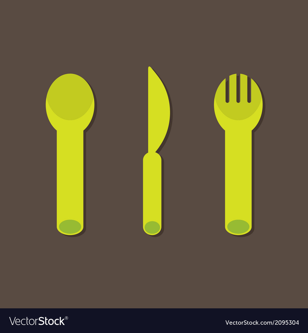 Knife fork spoon vector | Price: 1 Credit (USD $1)