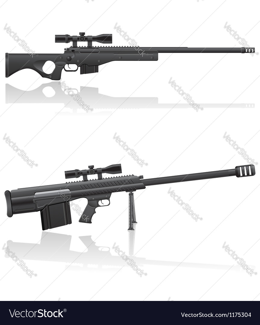Sniper rifle 03 vector | Price: 1 Credit (USD $1)